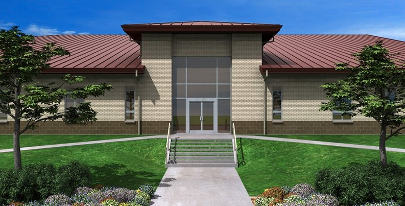 Rendering of Marine Corps Reserve Center entrance