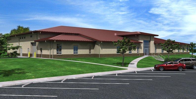 Marine Corps Reserve Center rendering