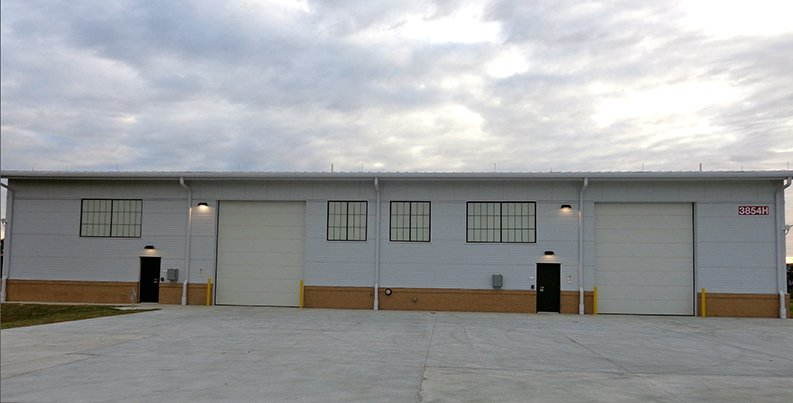 Front of Warehouse