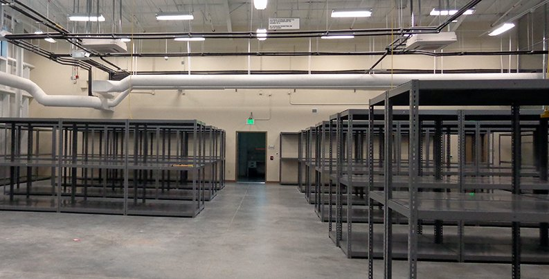 Shelving area in Warehouse